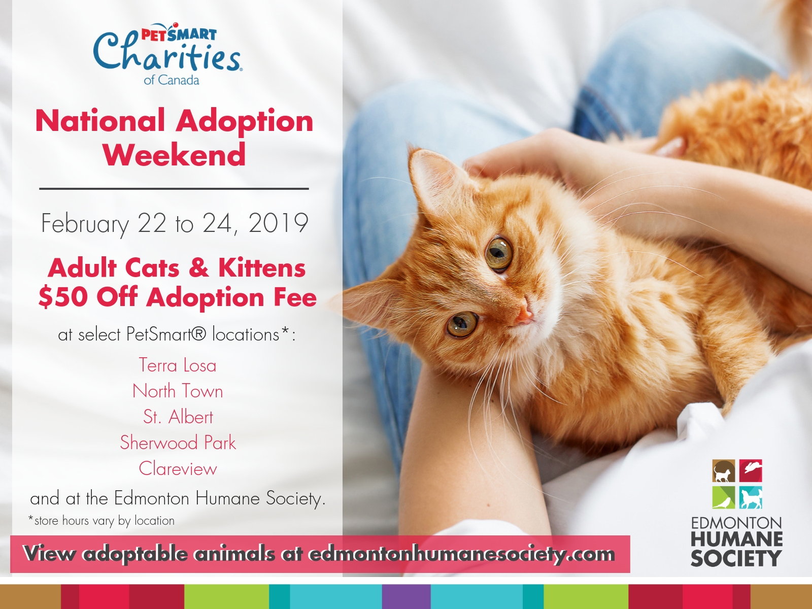 Petsmart National Adoption Weekend Edmonton Humane Society